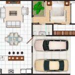 Plano de casa de 10 x 25