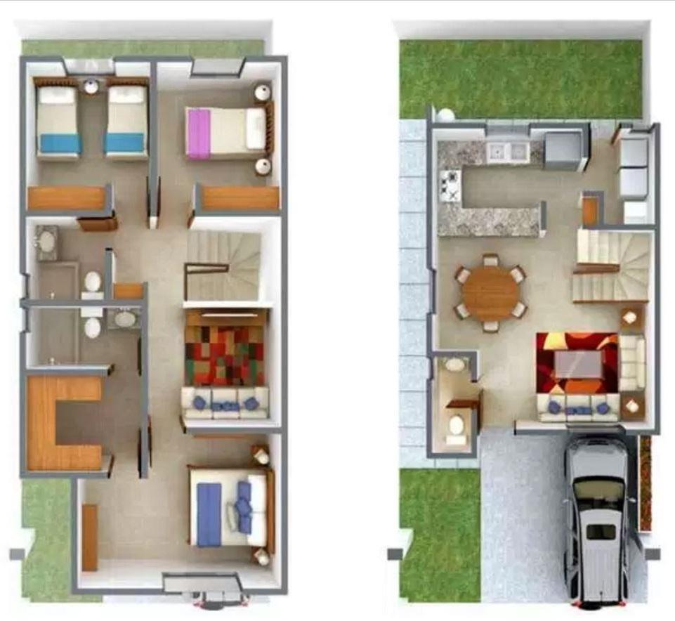 3 dormitorios | planos de casas modernas