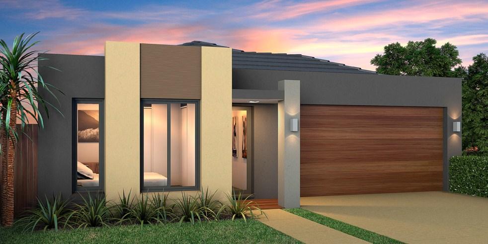 Garaje doble planos de casas modernas for Fachadas de viviendas de una planta