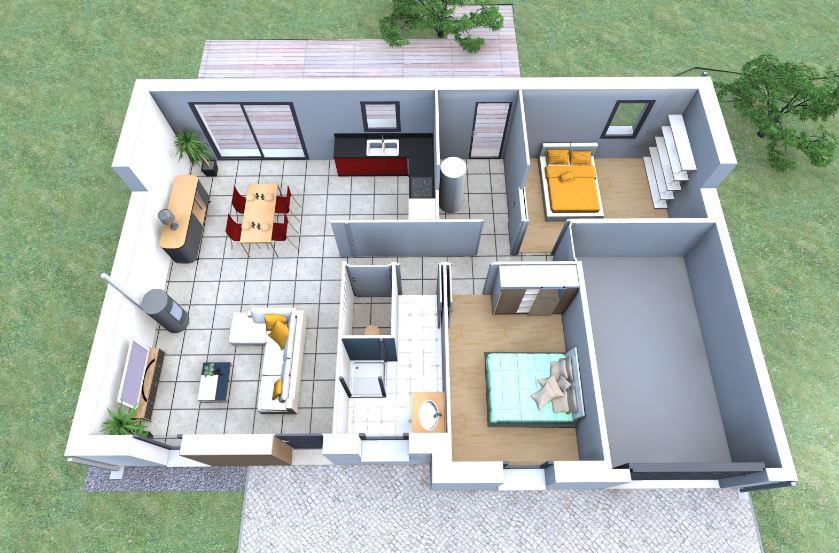 Plano de vivienda sencilla planos de casas modernas for Diseno de casa sencilla