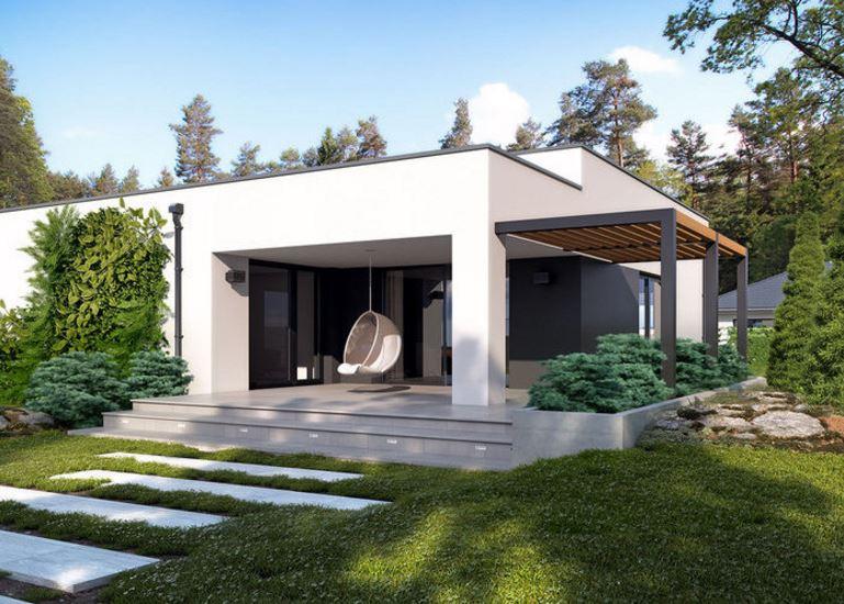 Planos de casas modernas de 1 piso y 3 habitaciones for Casa minimalista 2 plantas