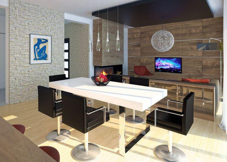 Planos de casas modernas de 1 piso y 3 habitaciones for Planos de casas con sala comedor y cocina juntos