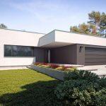Plano de casa minimalista de 170 m2
