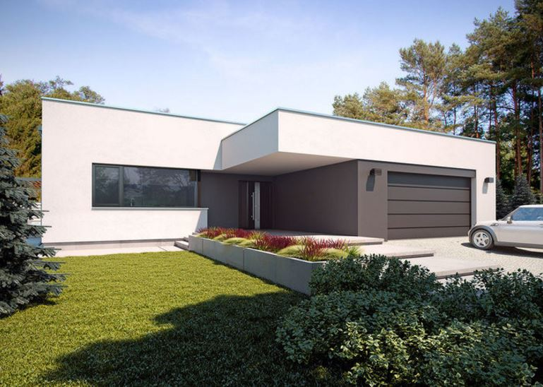 Plano de casa minimalista de 170 m2 for Colores para casas minimalistas