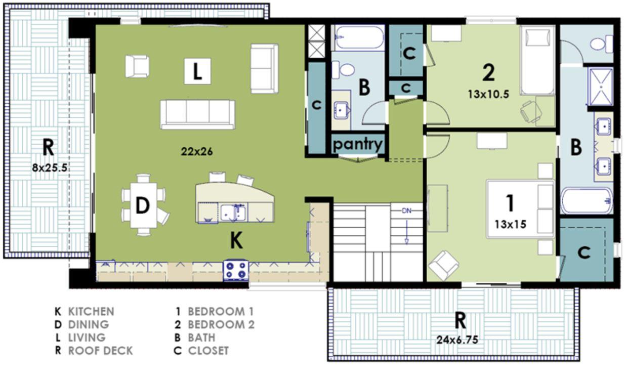 Plano de casa moderna planos de casas modernas - Cuanto cuesta hacer una casa de dos plantas ...