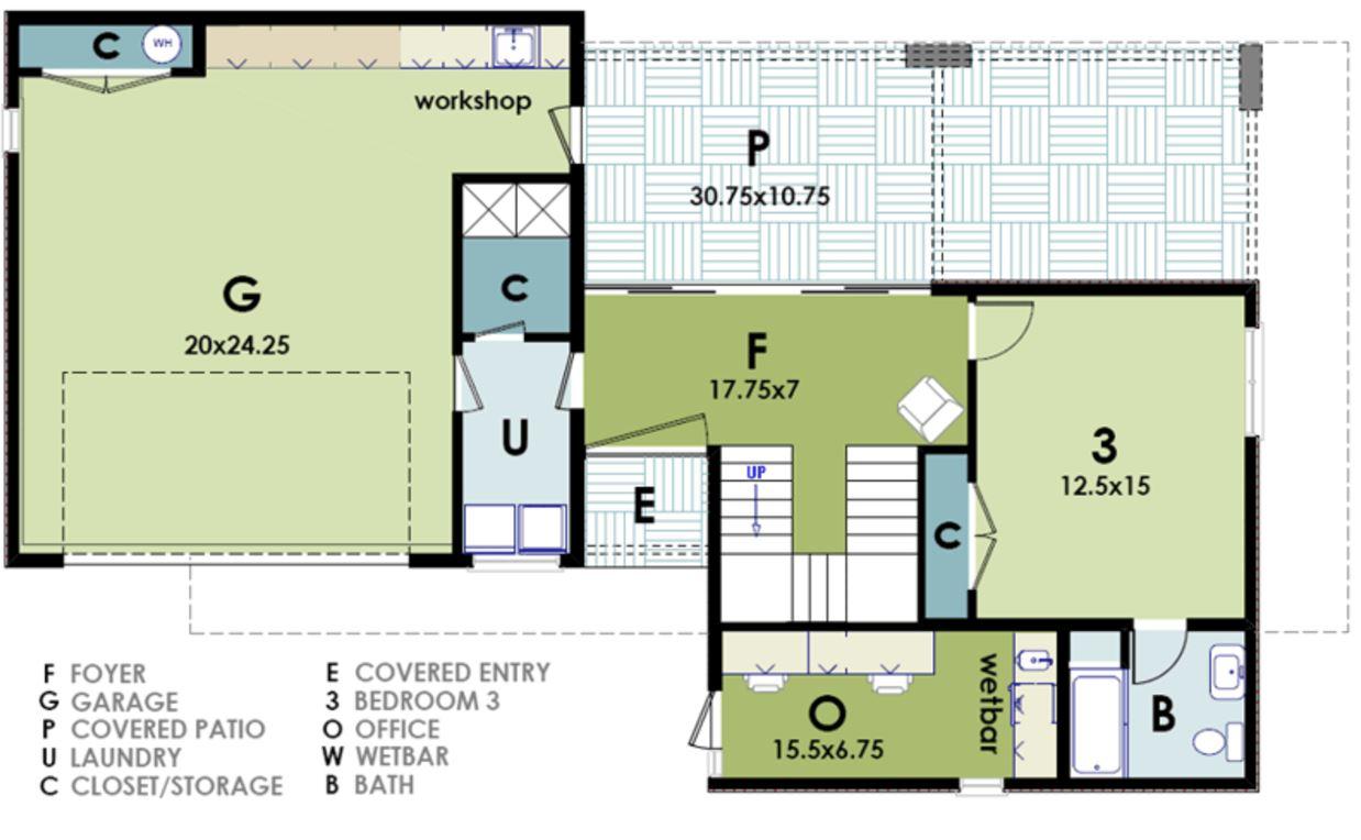 plano de casa moderna | planos de casas modernas