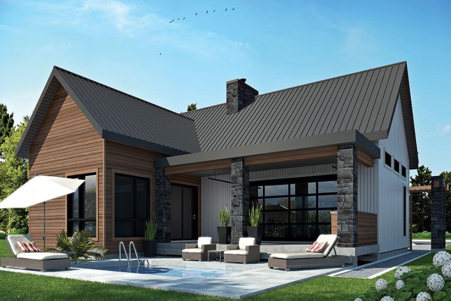Plano de casa moderna planos de casas modernas for Techos de casas modernas