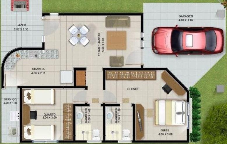 Planos de casas de 10 x 30 for Planos de casas con medidas