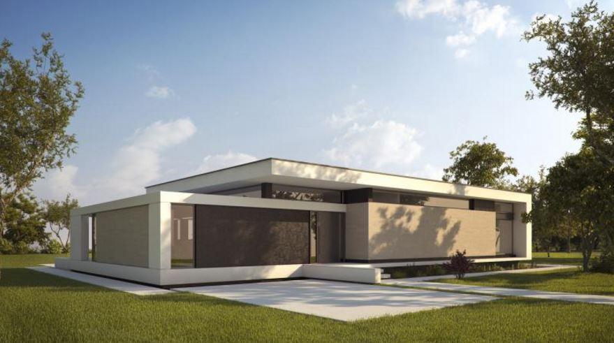 Casa minimalista una planta planos de casas modernas for Estilo de casa minimalista