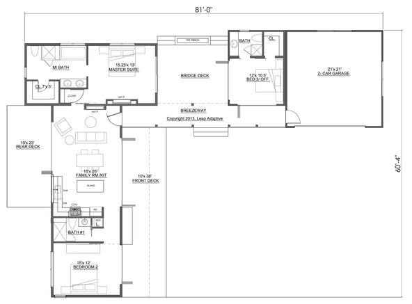 Planos de casas en l de una planta - Casas de una planta ...