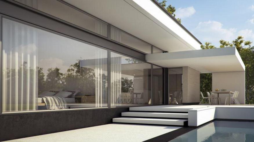 Casa minimalista una planta planos de casas modernas for Casa minimalista con planos