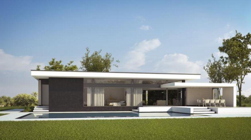 Planos casas concepto abierto for Fachadas de viviendas de una planta