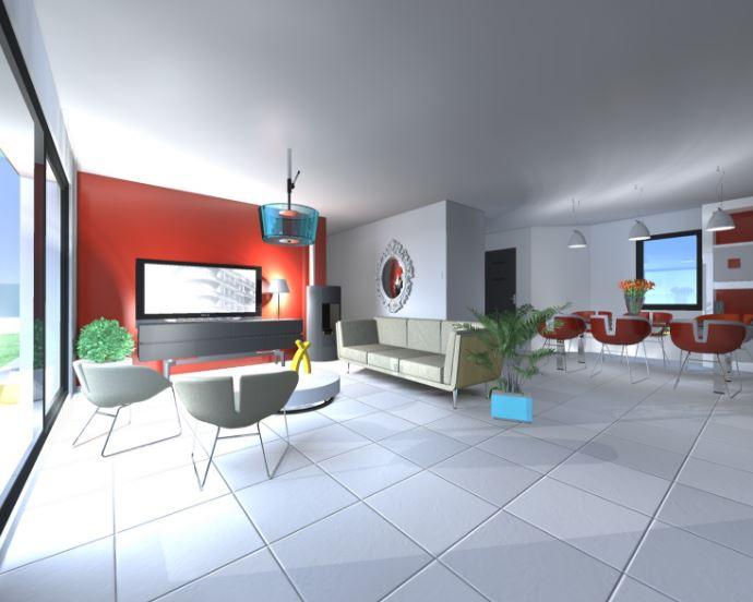 Plano de casa en 3d planos de casas modernas for Casas modernas 80 metros cuadrados