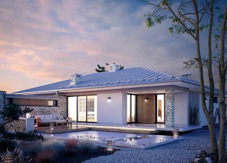 Hermoso dise o de casa de 170 metros cuadrados en una planta for Diseno de casas minimalistas de una planta