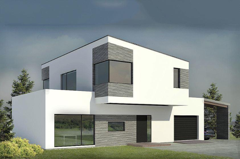 Casa minimalista de dos pisos planos de casas modernas for Planos de casas minimalistas de 2 pisos