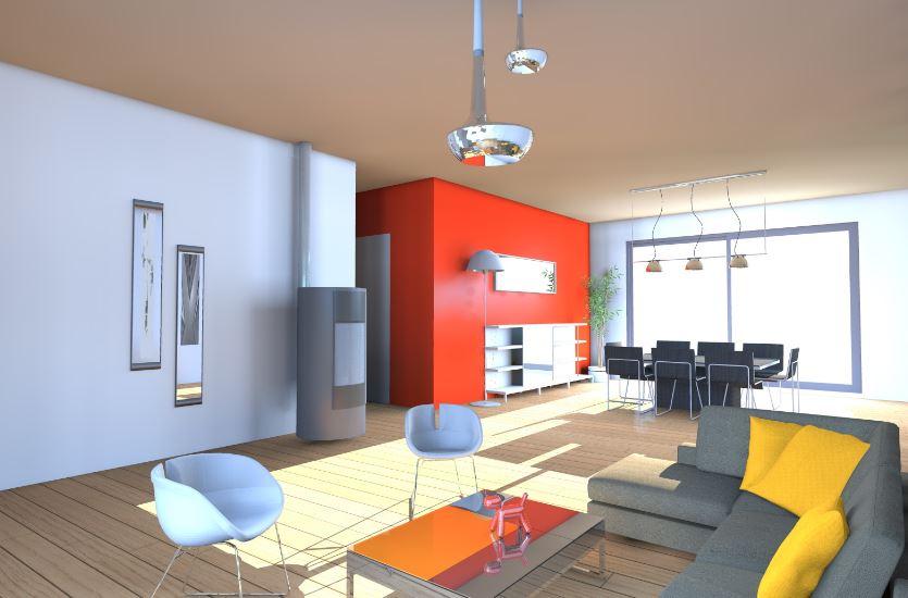 Plano de casa en 3d planos de casas modernas for Dormitorio 15 metros cuadrados