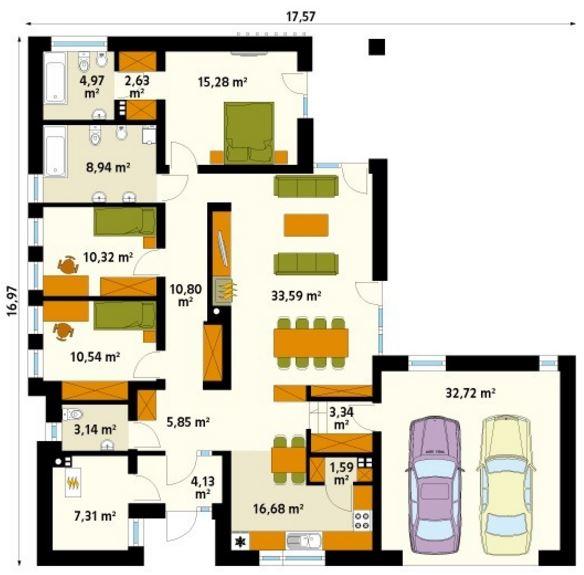 Casas de 170 m2 planos de casas modernas - Pasar de metros a metros cuadrados ...