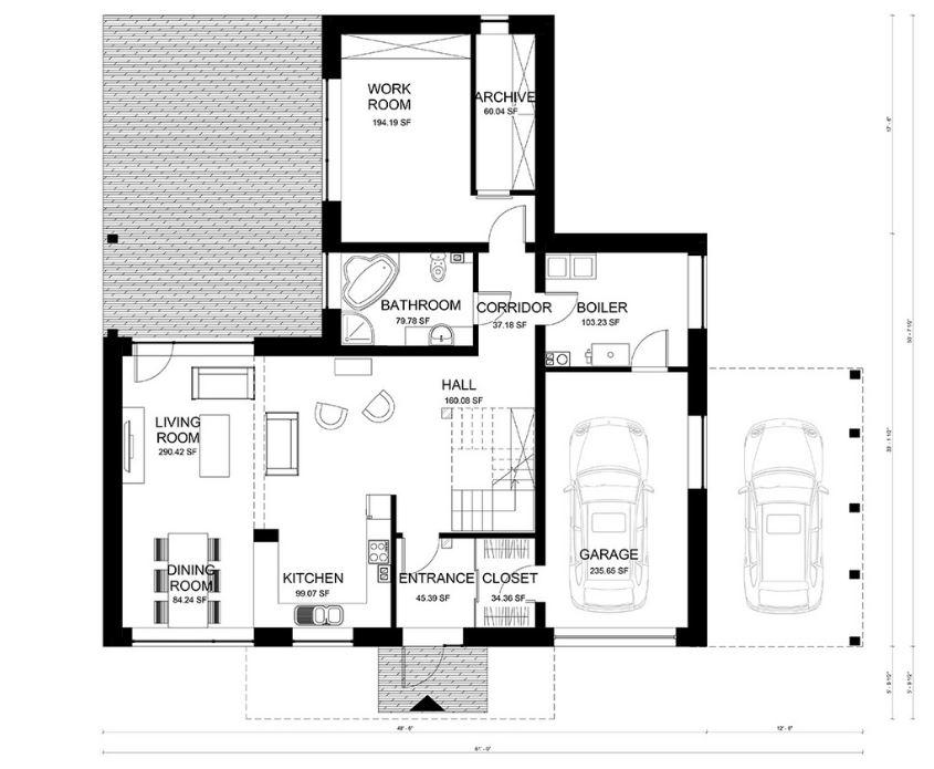 Planos de casas con patio central planos de casas planos - Planos de casas con patio interior ...