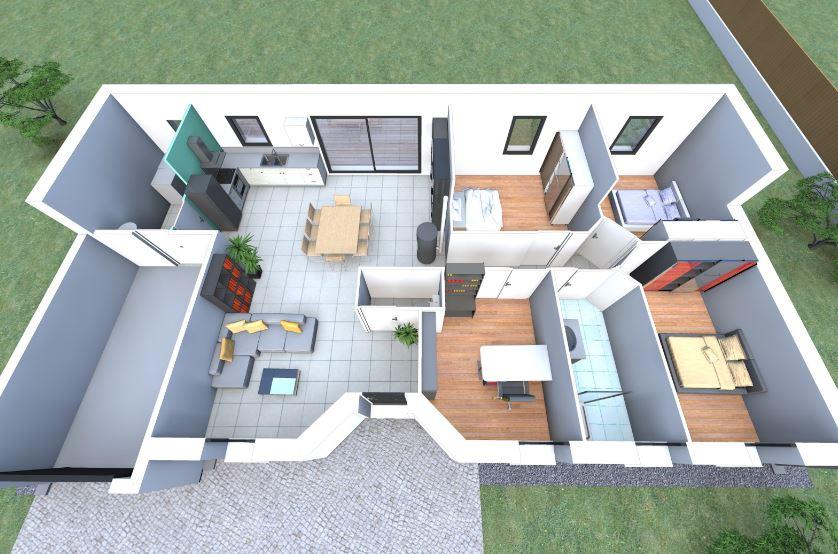 Planos de casas de 100 metros cuadrados en 3d - Planos de casas de 100 metros cuadrados ...