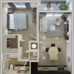 Departamento de 1 dormitorio con balcon y baño en suite
