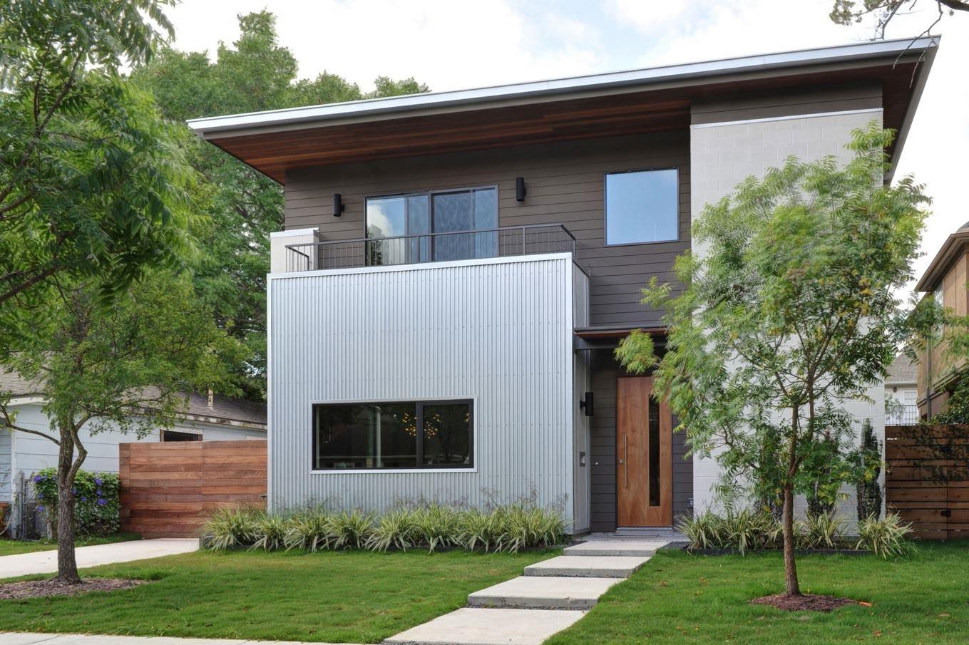 Fachada de casa sencilla y bonita for Fachada de casas modernas con porton