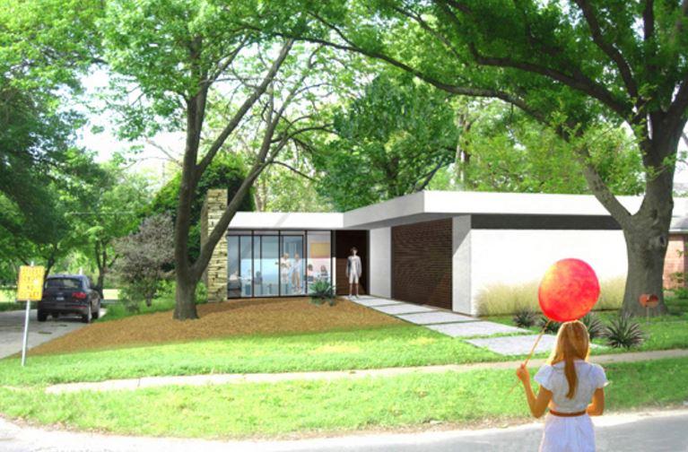 Plano de casa moderna de 3 habitaciones planos de casas for Diseno de casa de 120 metros cuadrados