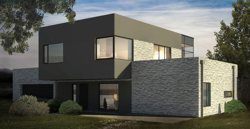 4 dormitorios planos de casas modernas for Casa minimalista 2 dormitorios