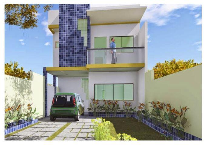 Plano de casa moderna de dos pisos planos de casas modernas - Disenos de casas de dos plantas modernas ...