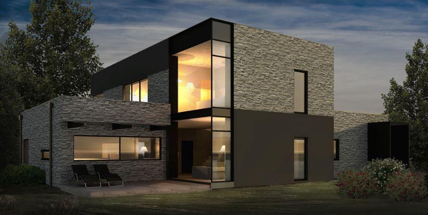 Planos de casas modernas 2 pisos 4 habitaciones for Casas modernas fachadas de un piso