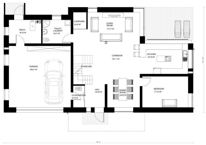 4 dormitorios planos de casas modernas - Cuanto cuesta hacer una casa de dos plantas ...