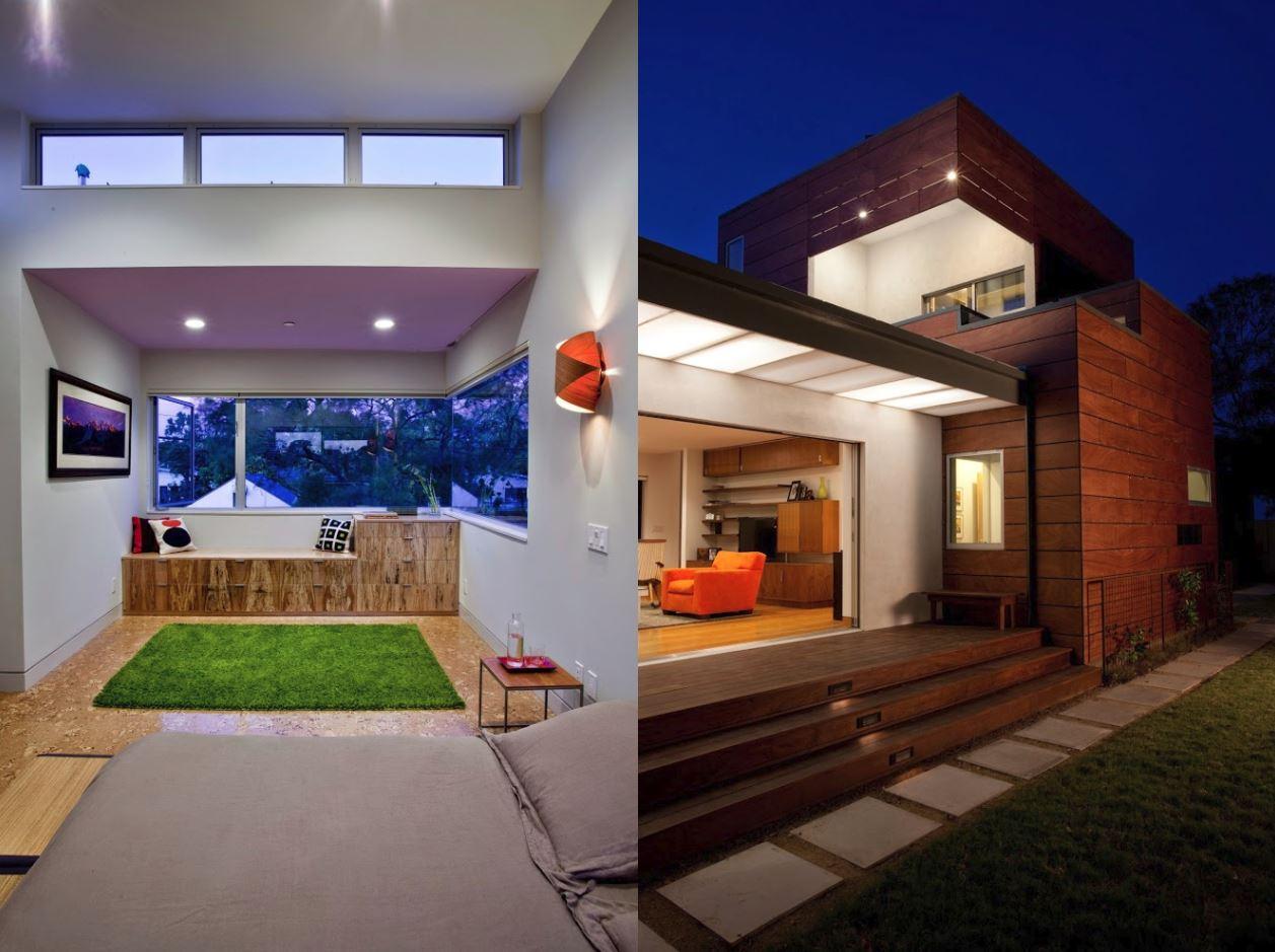 4 dormitorios planos de casas modernas - Casas de madera modernas ...