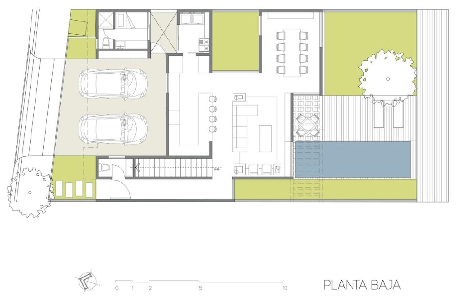 Plano de casa con cielo raso de madera for Planos de madera