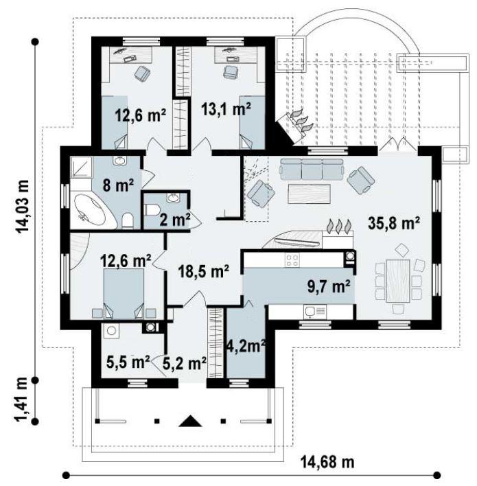 Planos de casa de campo modernas for Planos de casas de campo modernas