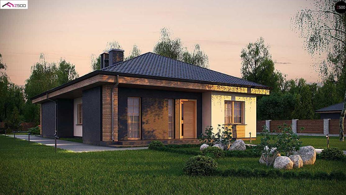 Plano de casa moderna planos de casas modernas for Diseno de casa de 120 metros cuadrados