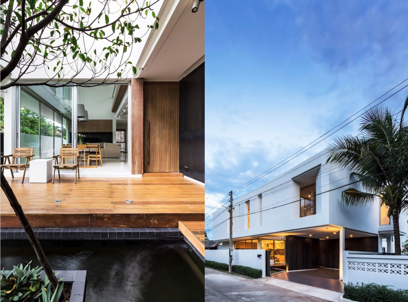 plano de casa moderna con frente curvo | planos de casas modernas