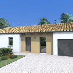 Plano de casa de 4 dormitorios y garage