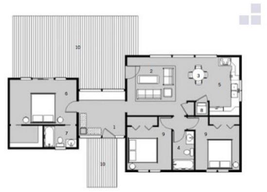 Planos de casas modernas de 3 dormitorios y 2 ba os for Banos casas modernas