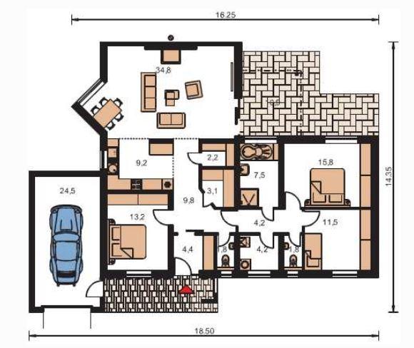 Planos de casas modernas con piscina for Planos de piscinas temperadas