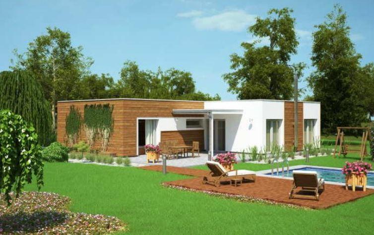 Casas modernas com piscinas vista nocturna de exterior de for Piscinas para casas