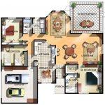 Planos de casas modernas de 3 dormitorios y 2 baños