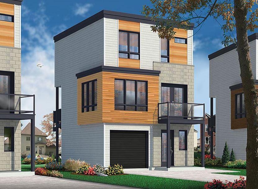 Plano de casa de 6x6 for Casa moderna 6x6