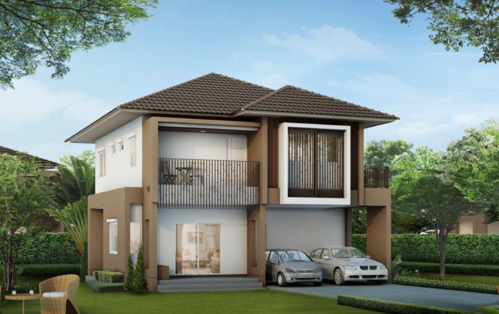 Plano de casa de dos pisos 4 dormitorios y 3 ba os for Modelos de casas de 2 pisos