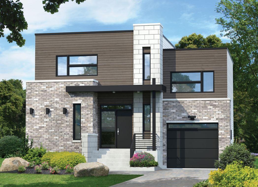 Plano de casa de 11x10 de dos plantas for Disenos para frentes de casas