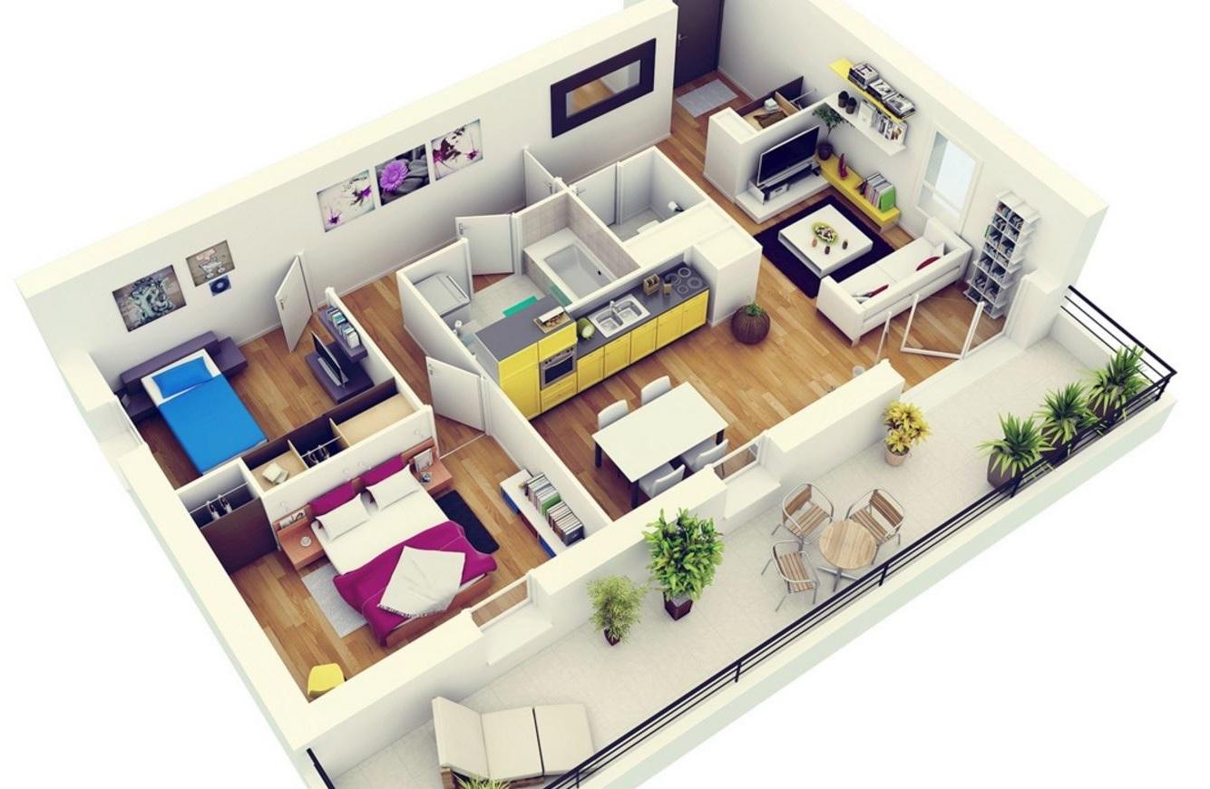 plano de departamento | planos de casas modernas