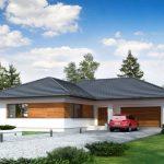 Diseño de casa moderna de 3 habitaciones y cochera doble