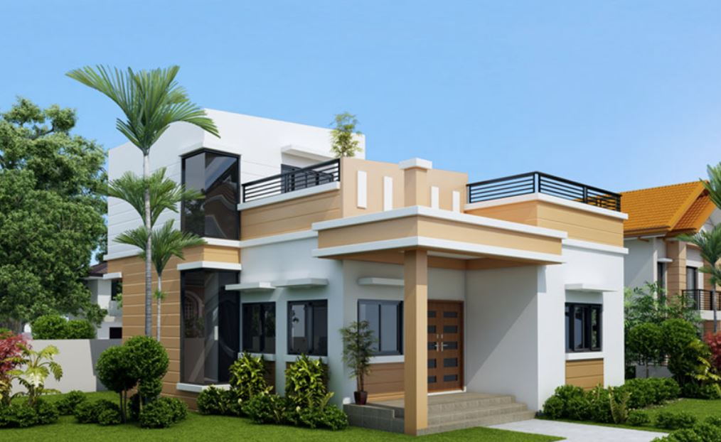 Dise o de casa peque a de 2 plantas for Modelos jardines para casas pequenas