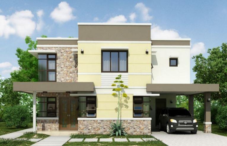 Planos de casas modernas planos de casas gratis y modernas for Modelos de fachadas de casas de dos pisos