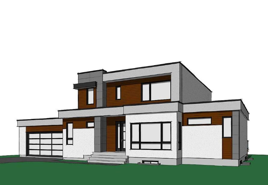 Casas de 200m2 modernas for Disenos arquitectonicos de casas modernas