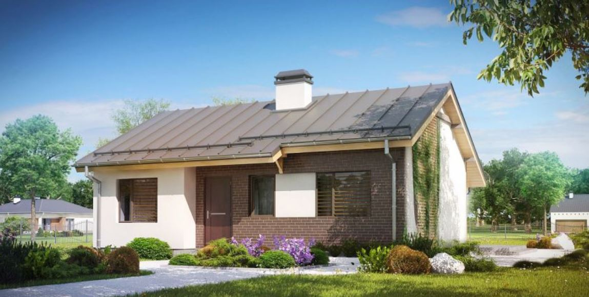 Plano de casa con techo a 2 aguas planos de casas modernas for Casas modernas 4 aguas