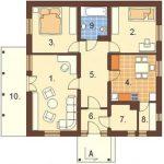 Planos de casas de 2 dormitorios 60 metros